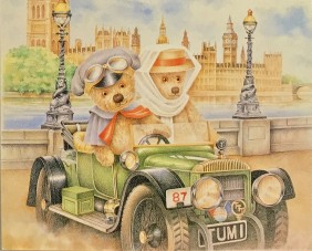 Teddy Tum Tum is a bold adventurer, prepared to journey where other bears dare not. Based on his own much loved and much worn bear, Patrick Lowry's exquisite illustrations evoke the charm of childhood days.
