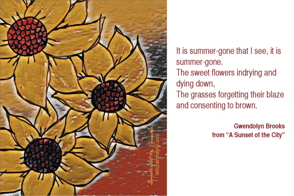 Gwendolyn Brooks and Sunflowers